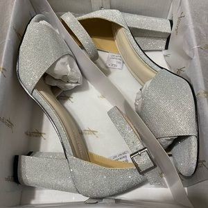 David's Bridal Chunky Heels